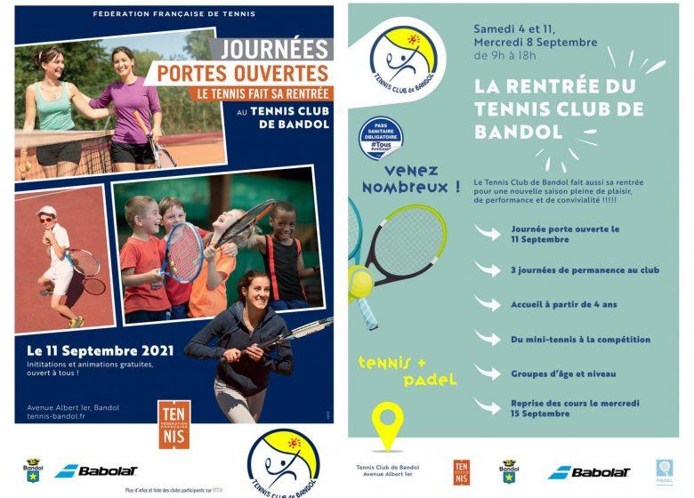 Le Tennis fait sa rentrée – Journées portes ouvertes